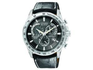 Citizen Eco-Drive Leather   Perpetual Atomic Mens   Watch AT4000-02E