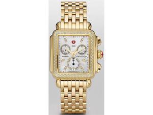 Michele Deco Day Gold-tone Diamond Dial Watch MWW06P000100
