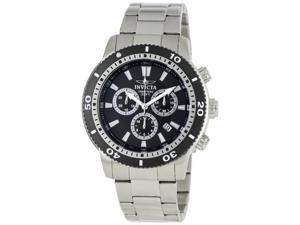 Invicta II  Men's Black Dial Stainless Steel Chronograph Watch