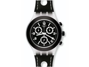Swatch Black Cup Chronograph Plastic Mens Watch SVCK4072