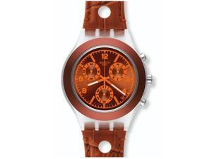 Swatch SVCK4073 Rouille Chronograph Orange Plastic Men's Watch