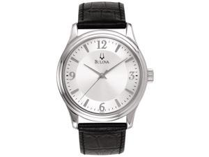 Bulova Corporate Collection Leather Mens Watch 96A28