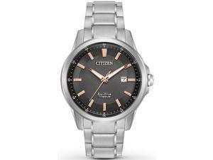 Citizen Eco-Drive Titanium Ti + IP Mens Watch AW1490-50E