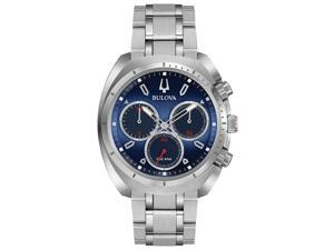 Bulova Stainless Steel Chronograph Mens Watch 96A185