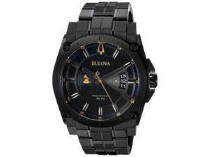 Bulova Special Grammy Edition Precisionist Black Stainless Steel Mens Watch 98B295