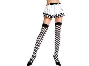 3c537d3d3a3c2 Opaque Checkered Thigh Hi Nylon Costume ...