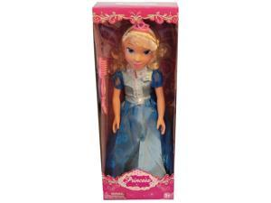 "19"" Princess Doll In Two Tone Blue Dress"