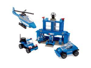 Best Lock Construction Toys Police Station 450 Piece Set