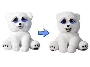"Feisty Pets 8"" Plush, Karl the Snarl Polar Bear (Derpy Face)"