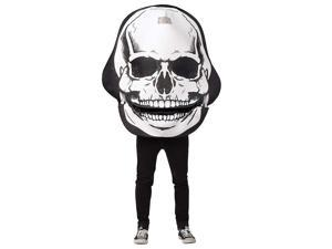 Moving Mouth Skull Adult Pullover Costume Tunic - One Size