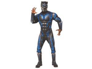 Marvel Black Panther Movie Deluxe Black Panther Adult Costume - Standard