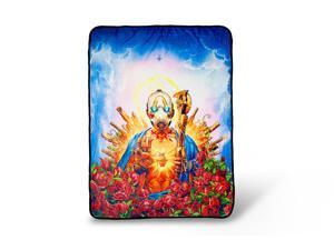 Borderlands 3 Psycho Bandit Cover Art Fleece Throw Blanket   60 x 45 Inches