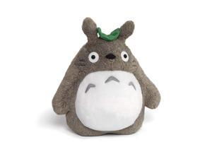 Totoro with Leaf 9 Inch Deluxe Stuffed Animal Plush