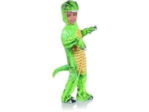 Green T-Rex Printed Child Costume Jumpsuit   Large
