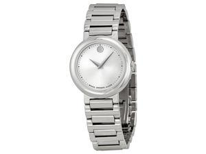 Movado Silver Dial Stainless Steel Ladies Watch 0606702