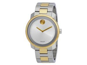 Movado Bold Silver Dial Two-tone Mens Watch 3600431