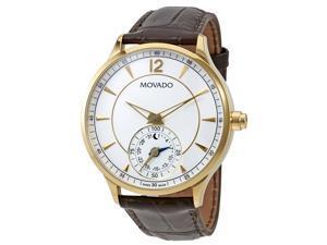 Movado 660008 Circa Motion Mens Leather Smart Watch - White