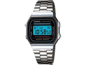 Casio A168W-1 Electro Luminescence Digital Bracelet Mens Watch