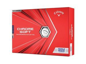 Callaway 64212571280 Callaway Chrome Soft Triple Track Golf Balls-Dozen-White