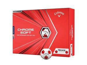 Callaway 64212571220 Callaway Chrome Soft 2020 Golf Balls Truvis White-Red