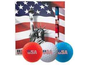 Volvik USA Golf Ball Pack - 3 Sleeves - Red White Blue - 1776