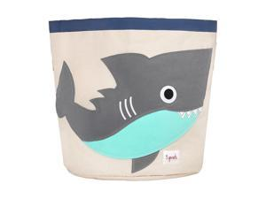3 Sprouts Canvas Storage Bin Laundry and Toy Basket for Baby and Kids, Shark