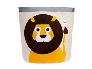 3 Sprouts Canvas Storage Bin Laundry and Toy Basket for Baby and Lion, Raccoon