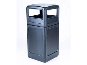 Commercial Zone 73290199 Dome Lid Square 42 Gallon Waste Container Bin, Black