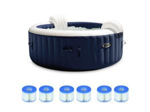 Intex 4 Person Portable Inflatable Spa w/ Filter Replacement Cartridges (3 Pack)