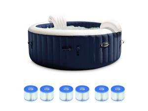 Intex 6 Person Portable Inflatable Spa w/ Filter Replacement Cartridges (3 Pack)