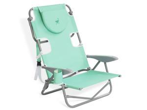 Ostrich On Your Back Folding Reclining Outdoor Beach Camping Lawn Chair, Teal