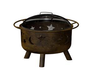 Landmann 28352 Big Sky Antique Bronze Finish Night Sky Wood Burning Fire Pit