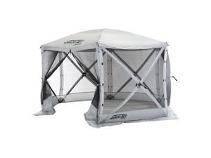CLAM Quick-Set Escape 11.5 x 11.5 Ft Portable Outdoor Camping Shelter, Gray