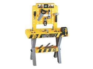 Theo Klein Caterpillar Toy Workbench and Tool Set for Ages 3 and Up, 39 Pieces