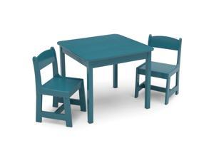 Delta Children MySize Wooden Kids Craft Table and Chairs Set for Toddlers, Teal