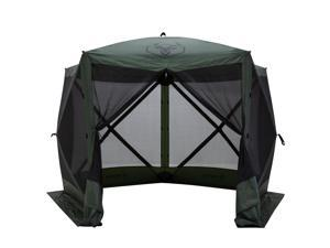 Gazelle GG501GR Pop Up Portable 4 Person Camping Gazebo Day Tent w/ Mesh Windows