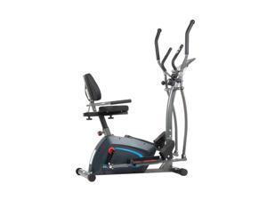 Body Champ 3 in 1 Trainer Machine w/ Elliptical, Upright Bike, & Recumbent Bike