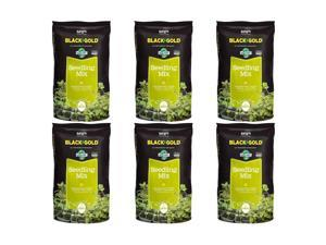 SunGro Black Gold Seedling Germination Mix for Seeds, 1.5 Cubic Feet (6 Pack)