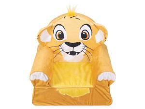 Marshmallow Furniture Comfortable Foam Kid's Size Toddler Chair, The Lion King