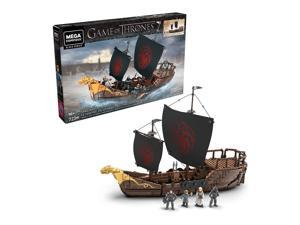 Mega Construx Game of Thrones Targaryen Warship Building Set for Ages 16 and Up