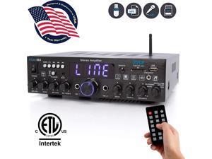 Pyle PDA4BU Bluetooth 200 Watt Multi Channel Stereo Amplifier Audio Receiver
