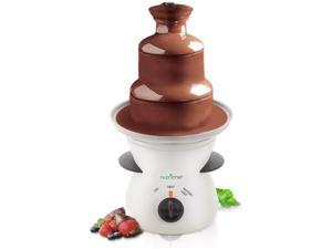 NutriChef 16oz 3 Tier Electric Countertop Fondue Maker Fountain Chocolate Melter