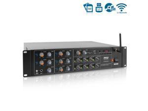 Pyle 4000 Watt 8 Channel Audio Bluetooth Amplifier Sound Mixer Receiver System