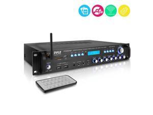 Pyle 3000 Watt Pro Home Audio Multi Channel Bluetooth Hybrid Amplifier Receiver