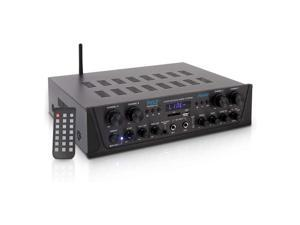 Pyle PTA44BT.5 Bluetooth Home Audio 500 Watt 4 Channel Amplifier Stereo Receiver