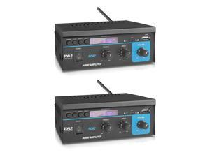 Pyle PCA2 80 Watt Stereo Sound Speaker Amplifier Receiver Audio System (2 Pack)