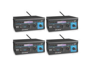 Pyle PCA2 80 Watt Stereo Sound Speaker Amplifier Receiver Audio System (4 Pack)