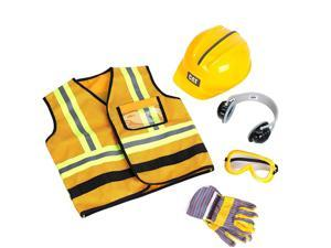 Theo Klein Caterpillar Construction Worker Costume Vest Set for Ages 3 and Up