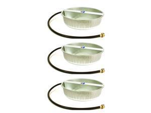 Little Giant 13-Quart Galvanized Steel Ever Full Pet Water Bowl Dish (3 Pack)
