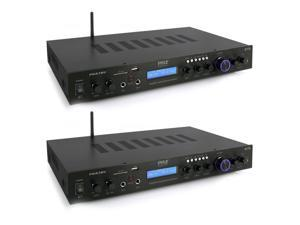 Pyle PDA7BU 200W Home Theater Amplifier Bluetooth Receiver Sound System (2 Pack)